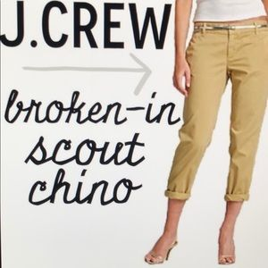 J CREW Broken-In Scout Chino size 4